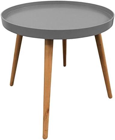 Mesa baja redonda con rebordes - Estilo escandinavo - Color GRIS ...