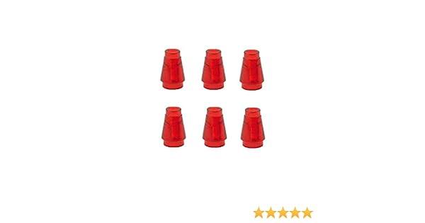 New Lego 20 x Translucent Red Cone 1 x 1