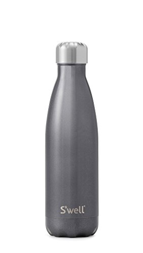 Water Wall Collection (S'well Vacuum Insulated Stainless Steel Water Bottle, 17 oz, Smokey Eye)