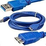 Terabyte USB 3.0 Data Cable Cord for Wd My Book Passport Essential External Hard Disk HDD (Blue)