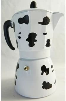 Cafetera italiana Design Décor vaca 3 tazas Café: Amazon.es: Hogar