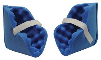 Eggcrate Foam Heel Blue- Ankle Protector- Deluxe (pair) 2 Heel Wheelchair