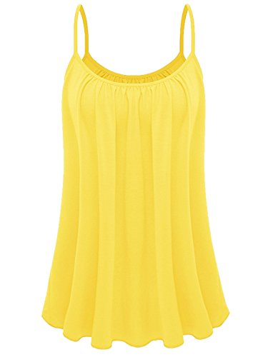 7th Element Womens Plus Size Cami Basic Camisole Tank Top (Yellow,2XL)
