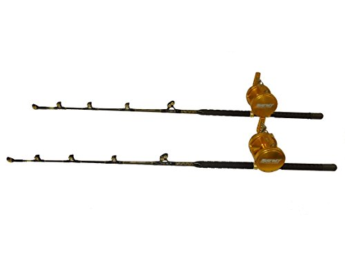 "COMBO (2) 80 WIDE 2 SPEED REELS WITH A (2) 160-200 LB. ""BLUE MARLIN TOURNAMENT EDITION"" ROD"
