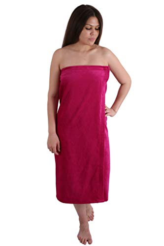 Long Size Velour (Extra Soft) Women`s Body Wrap, Shower & Bath, Terry Spa Towel, Made in Turkey