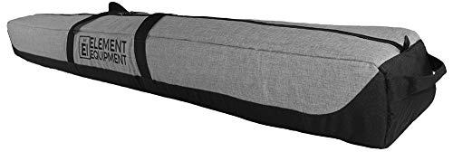 Element Equipment Deluxe Padded Ski Bag Single - Premium High End Travel Bag Heather Grey/Black ()