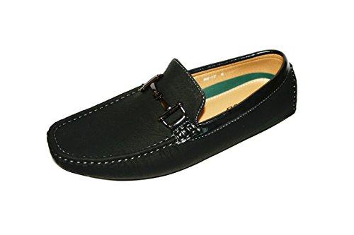 Lacci Da Uomo Casual Alla Guida Mocassini Mocassini Scarpe Colorate Fibbia Slip On Shoes (wh-07) -black