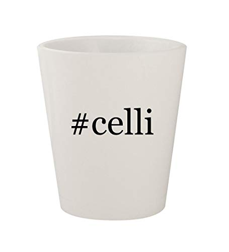 #celli - Ceramic White Hashtag 1.5oz Shot Glass
