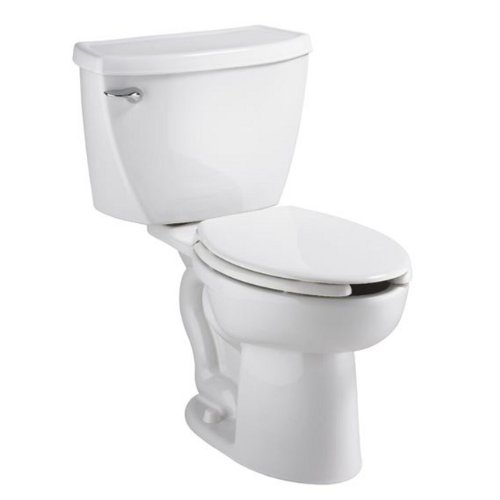 (American Standard 2467.100.020 Cadet Flowise Pressure Assisted Elongated Right-Height Two-Piece Toilet with EverClean,)