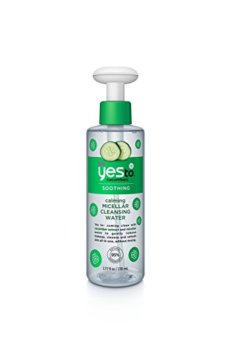 Yes to Cucumbers Calming Micellar Cleansing Water, 7.77 Fluid Ounce (Facial Water Cleanser)