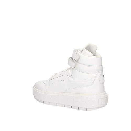 Bianca Bianco Alta Platform Sneakers Trace qFTExp