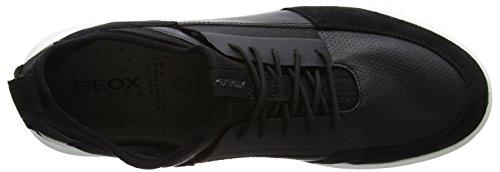 Herren Geox A Black Sneaker Schwarz U Traccia 1FqF068