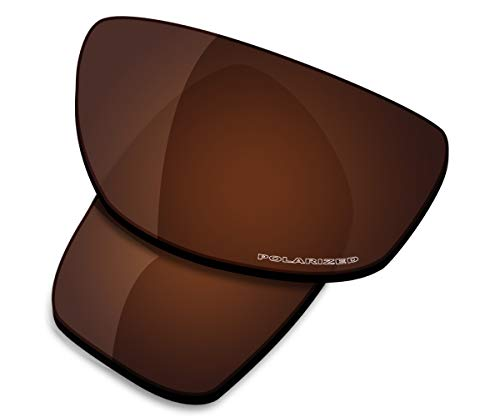 Saucer Premium Replacement Lenses for Oakley Valve New 2014 Sunglasses High Definition - Amber Brown Polarized