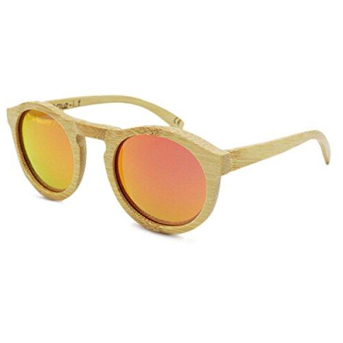 La Bambú Vendimia Orange Sol Mano Gafas Libre Recreación HAOYUXIANG Gray De De Conducción Aire wtIdPq