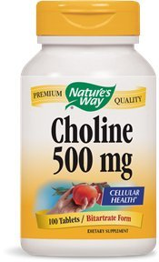 NATURE'S WAY Choline 500mg 100 Tablets