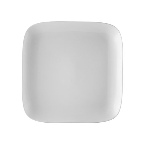 CAC China OXF-C16 Oxford Porcelain Coupe Square Plate (Box of 12), 10