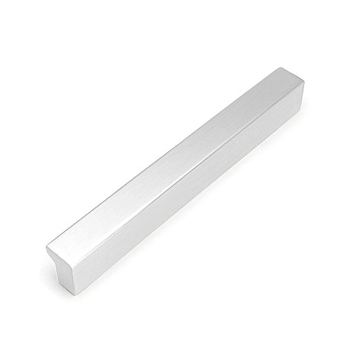 """(5 of Pack) HiFey 7-1/2""""(185mm) Silver Cabinet Knob and Pulls, Alloy Die-Cast Drawer Handles,for  Kitchen and Bathroom Cupboards Drawers Dressers Cabinets Shutters, Center To Center:6-1/2""""(160mm)"""