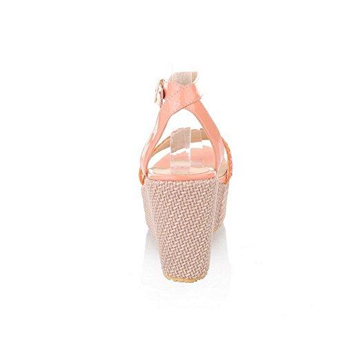 Balamasa Kvinnor Kors Vävning Mjuka Material Sandaler Ljusrosa