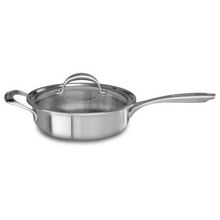 KitchenAid KCC35EHST Copper Core 3.5-Quart Sauté with Helper Handle and Lid Cookware - Stainless Steel