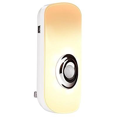 Emotionlite 3 in 1 LED Motion Sensor Night Light, Portable Flashlight, Power Failure Light, Energy Efficient Blackout Light for Bedroom Hallways, Rechargeable, Warmwhite