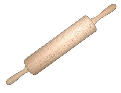 Scanwood Beechwood Rolling Pin w Nylon Bearing 10x2.2