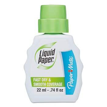 Papermate 5640115 Fast Dry Correction Fluid, 22 ml Bottle, White, 1/Dozen by Paper Mate (Image #2)