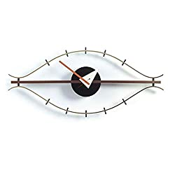 Nelson Eye Wall Clock Solid Copper Walnut Solid Wood Living Room Bedroom Cafe Home Decorative