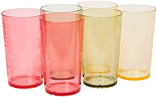 Creative Bath CH766ASST Tumbler Set, 6 Piece, 24 oz, Red/Yellow/Green