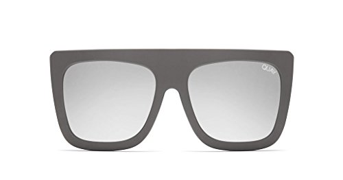 Quay Cafe Racer Grey Silver Sunglasses (Grey, - Sunglasses Cafe Racer