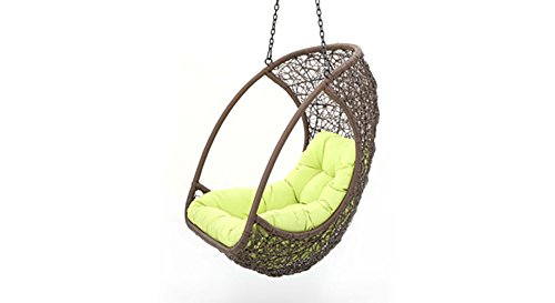 Urban Ladder Calabah Outdoor- Balcony Swing Chair Without Stand (Brown,Suspended)