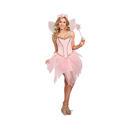 YaXuan Butterfly Elf/Flower Fairy/Angel /Adult Women's Role Playing/Festival / Holiday Halloween Costumes Pink/Tutus (Color : Pink, Size : S) ()