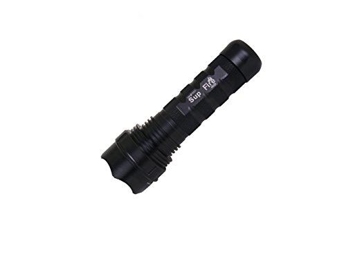 (SupFire HID LED Flashlight,high power xenon Light Source,24W, Powerful 1600Lumen,On-board recharging,Direct)