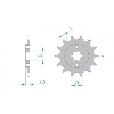AFAM Ritzel Teilung 520 Z/ähne 14 f/ür Hyosung GT 250 i Naked Bj KM4MJ55A Lochkreis Sicherungsblech: 34mm 2009-2010 Ma/ße Welle: 16//20mm H/öhe//Versatz: 8,9mm