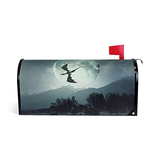 senya Mailbox Cover Magnetic The Dragon Flies Over Unicorns Standard Sized