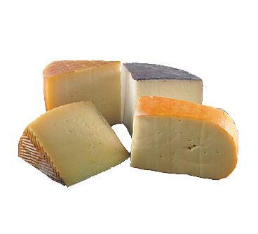 Fromage Marquis Spanish Cheese Sampler Assorted Box - 1.9 lbs - Manchego, Mahon, Idiazabal, Murcia al Vino + gift