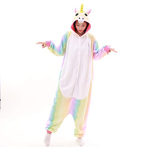 BlingBling Dress 2017 Unisex Adult Rainbow Unicorn Onesie Pa