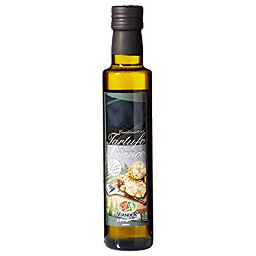 Truffle Oil (8.45 Ounce) - White Truffle in EVOO - Real Truffle Oils - Pure Infused White Truffle Oil - Best Truffle Oil From Italy - Aceite de Trufa - Tartufo Bianco. By Serendepity Life (1 Pack)