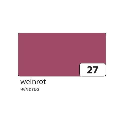 Folia Bringmann 6727Coloured Paper 130g/m², 500x 700mm, Wine Red