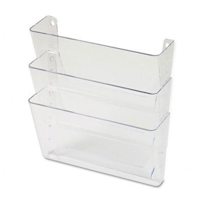 Universal 53682 3 Pocket Wall File Starter Set, Letter, Clear by Universal