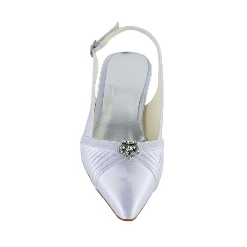 Jia Jia Wedding 30132 chaussures de mariée mariage Escarpins pour femme blanc, EU 42