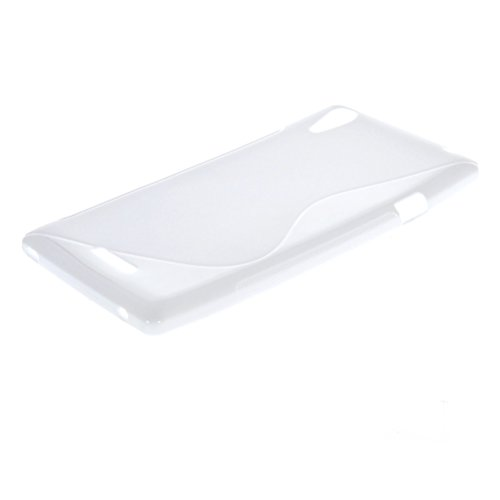 MOONCASE S-Line Flexible Soft Gel Tpu Silicone Slim Back Case Cover for Sony Xperia T3 D5103 D5106 White