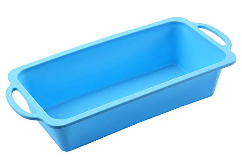 (The Original Brand, TRENDS home 10 Inch Silicone Loaf Pans. Patented Reinforced Stainless Steel Frame for Durability & Strength of a metal pan but flexibility of silicone baking pan.)