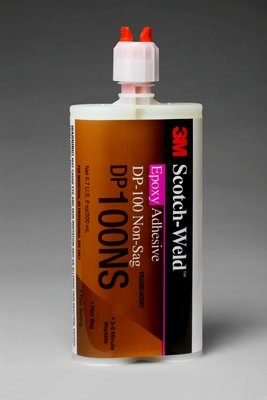 3M Scotch-Weld DP100NS Clear Two-Part Epoxy Adhesive - Clear, Base & Accelerator (B/A) - 400 ml Dual Cartridge - Shore Hardness 87 Shore D, Shear Strength 1500 psi - 87265 [PRICE is per KIT]