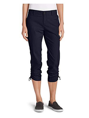 Eddie Bauer Womens Adventurer Stretch Ripstop Crop Cargo Pants - Slightly Curvy,4 Regular,Atlantic (Grey) ()