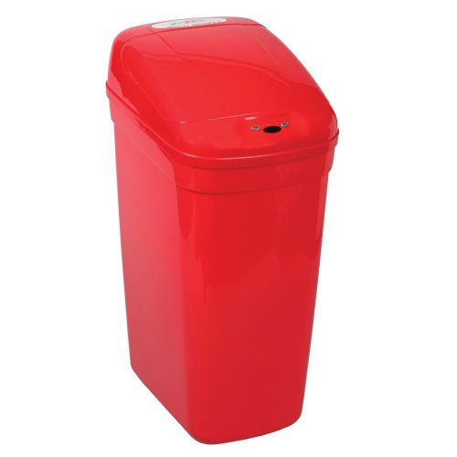 Bel-Art Touch Free 7.3 Gallon Automatic Waste Can with Red Lid (F13202-0022) by SP Scienceware