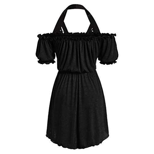 Plus Size Skirts for Women Midi Length,Londony ✡ Ladies 1950s Retro Vintage A-Line Cap Sleeve Cocktail Swing Party Dress Black]()