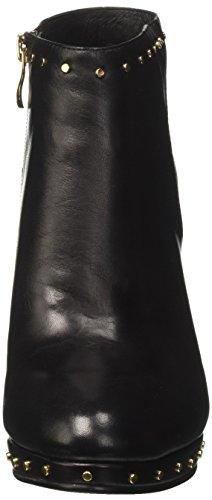 studs Black women's black NOIR zip leather MD221 boot CAF heel boots xtzEqwvxd