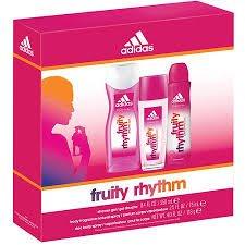 Adidas Fruity Rhythm Gift Set 1.7oz (50ml) EDT + 8.5oz (21.7oz (50ml)) Shower Gel (Adidas Gift Set Body Wash)