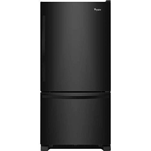 KitchenAid Whirlpool WRB322DMBB 21.9 Cu. Ft. Black Bottom Freezer Refrigerator - Energy - Kitchenaid Refrigerator Black