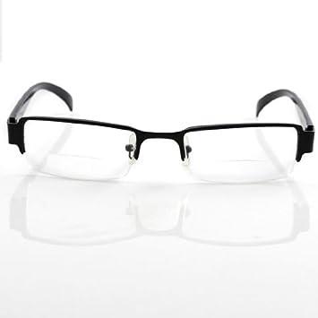 a87d7b9e8a11 Amazon.com: HTG THG Bifocal Presbyopic Reading Glasses Black Frame ...
